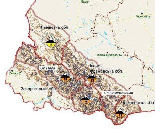 В Карпатах выпало более 60 см снега: На высокогорье Закарпатья большая опасность схода лавин