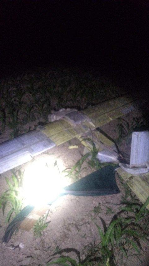 Сегодня ночью пограничники Чопского отряда перехватили беспилотник контрабандистов.