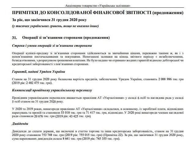 "Средняя зарплата члена правления ""Укрзализныци"" почти 21 миллион гривен в год"