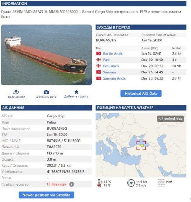 В Черном море затонул сухогруз с украинцами на борту — есть погибшие