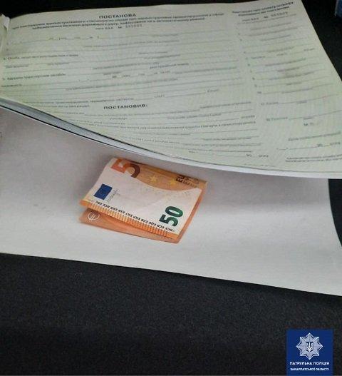 В Закарпатье поймали пьяного на фуре - отмазка в 50 евро не прокатила