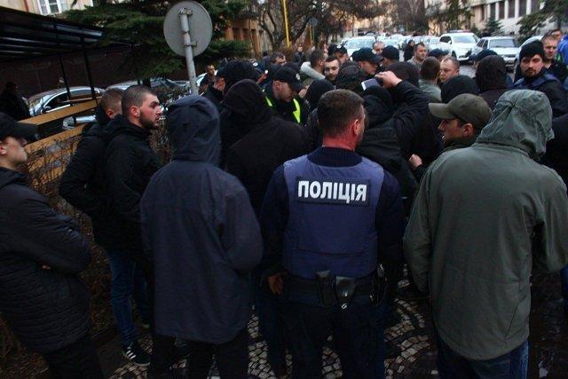 Стычка между местными активистами в Ужгороде