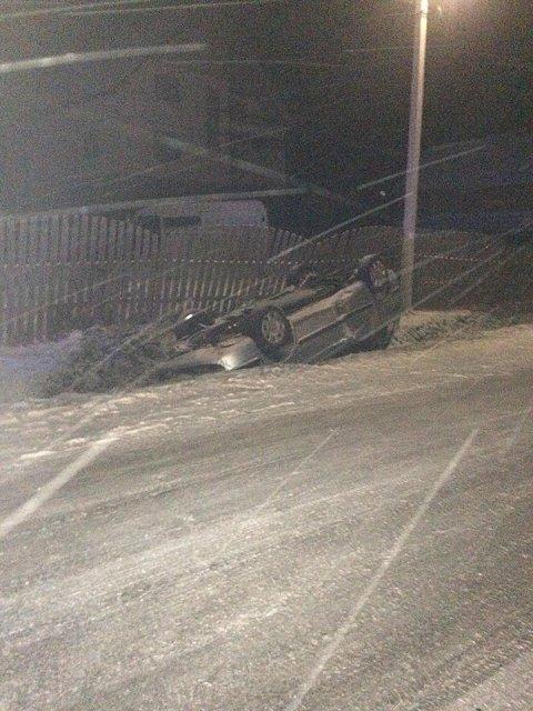В Закарпатьте авто с иностранцами кувыркнулось на крышу