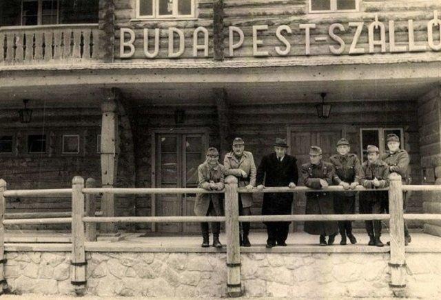 """Современная турбаза """"Эдельвейс"""" у Ясиня, бывший отель """"Budapest"""", 1943 год"""