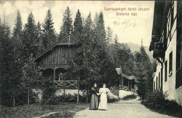Купальни в Кобылецкой Поляне и дом Штефании, 1911 год