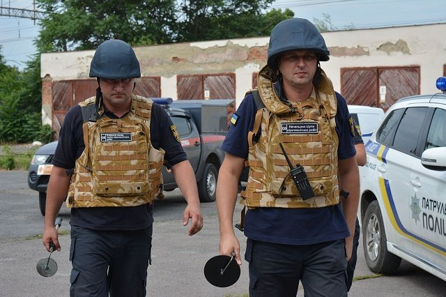 В Ужгороде состоялись учения по обеспечению порядка во время выборов
