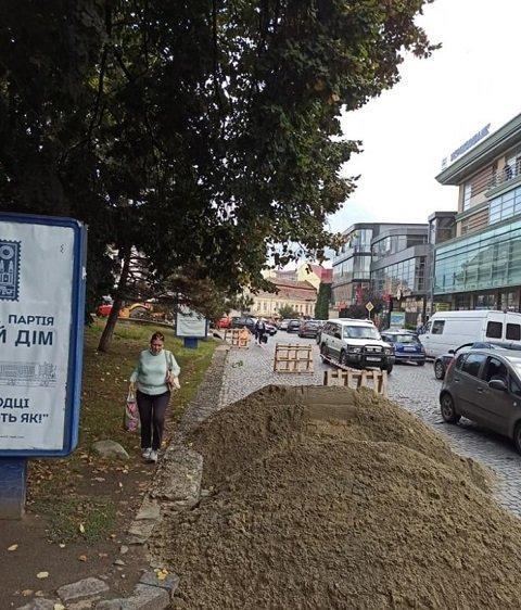 """""""Несколькодневные"""" ремонтные работы мэра Андріїва в областном центре Закарпатья уже начинают пугать"""