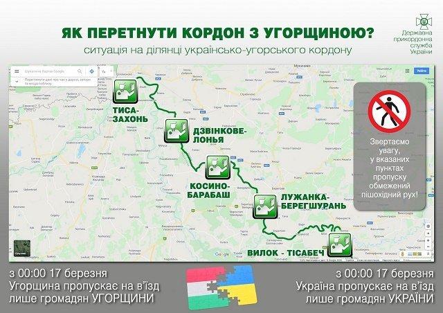 Ситуация на украинско-венгерской границе, кто и где может ее пересечь