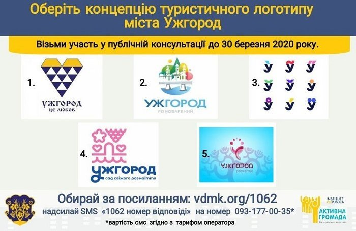 В областном центре Закарпатья объявили конкурс на лучший туристический логотип и лозунг города