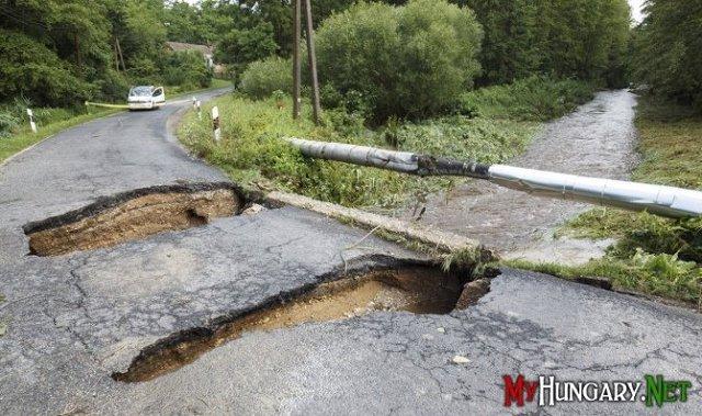 Разрушительный шторм поразил Венгрию