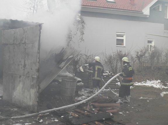 Пожар из-за взрыва в Ужгороде