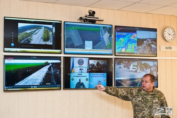 Имеется центр наблюдения за границей