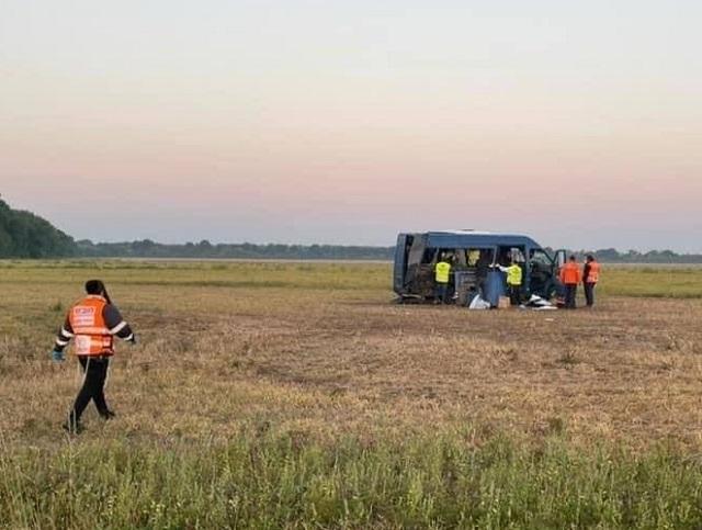 Под Киевом микроавтобус перевозивший 13 паломников из Израиля попал в ДТП