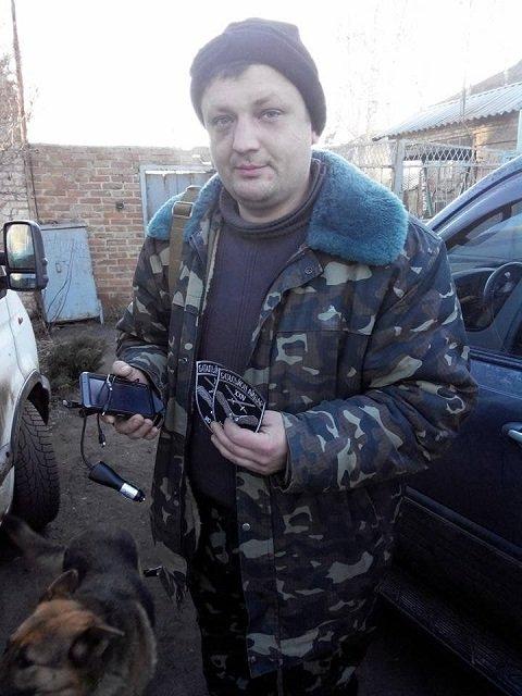 """Захвативший здание - сапер и ветеран добровольческого батальона """"Айдар"""", Владимир Прохонич."""