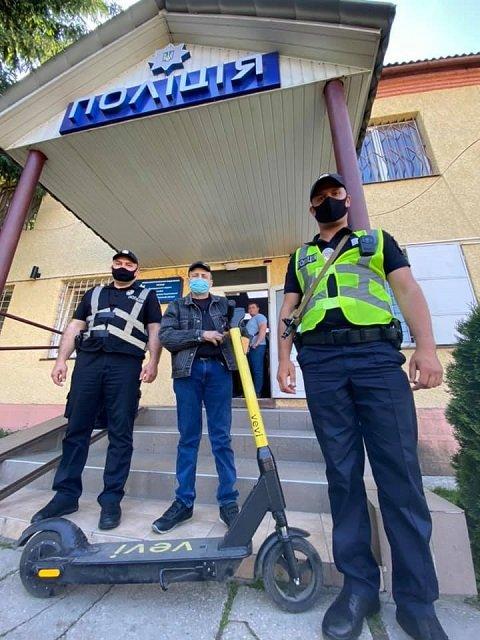 В Ужгороді охоронець поцупив електросамокат