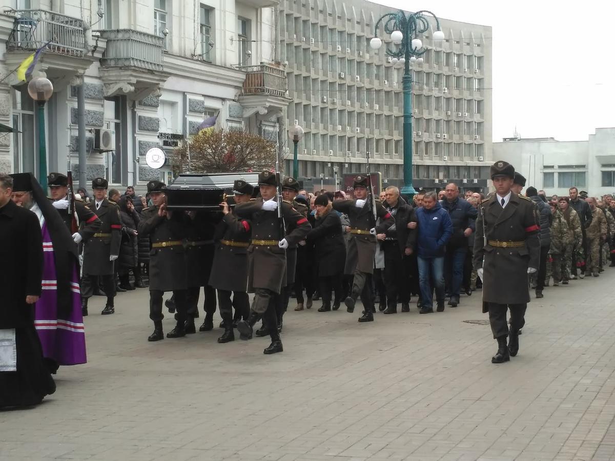 Родные и побратимы простились с командиром закарпатской 128-й бригады