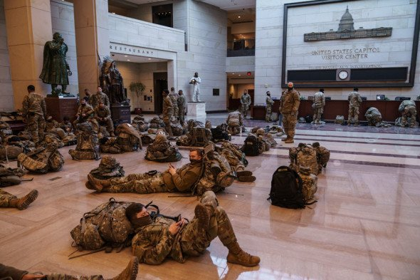 Капитолий, США, спецназ, армия
