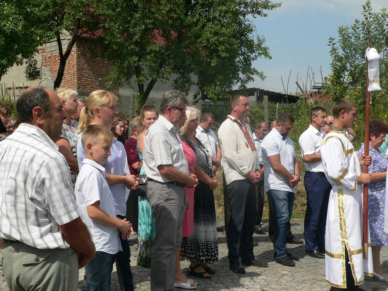 Мукачівська РДА повідомляє про освячення Хрест