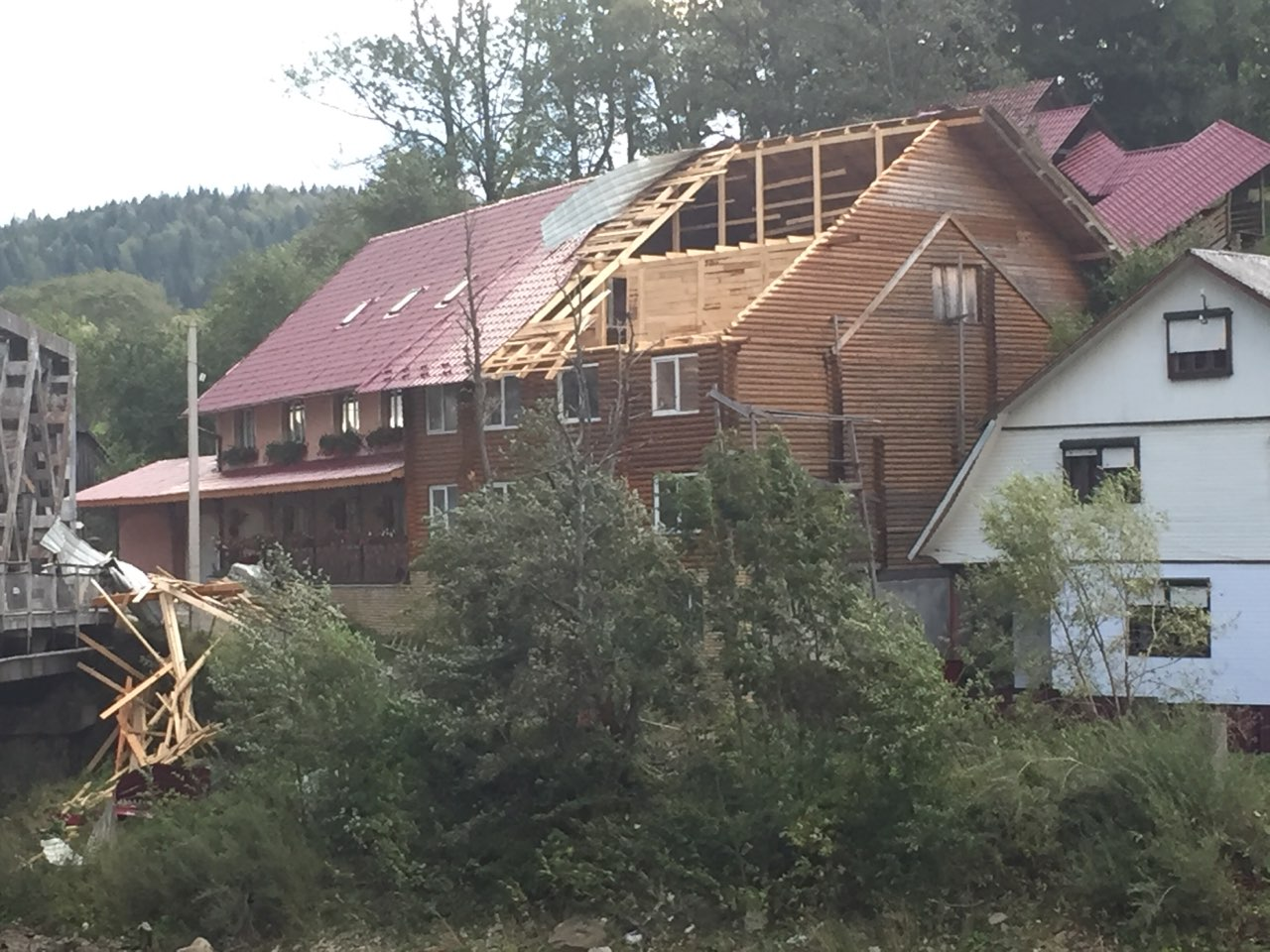 Наслідки урагана на Закарпатті