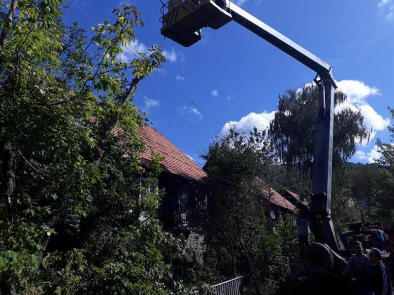 Закарпаття. Лліквідація наслідків урагану 17 вересня