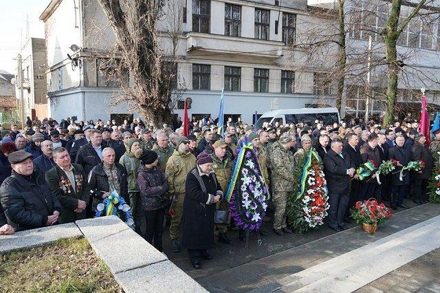 В Ужгороде провели памятные мероприятия в честь годовщины войны в Афганистане