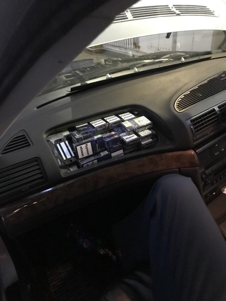 На Закарпатье таможенники через скрытые сигареты изъяли «BMW»