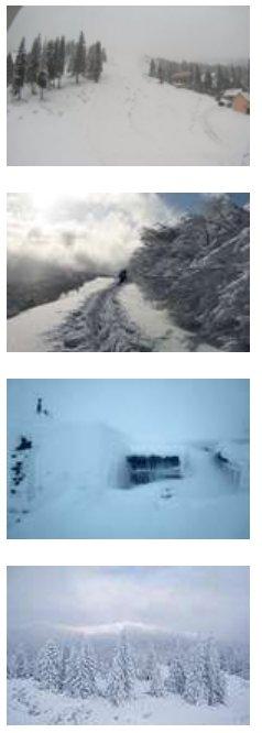 У Карпатах розгулявся штормовий вітер зі снігом