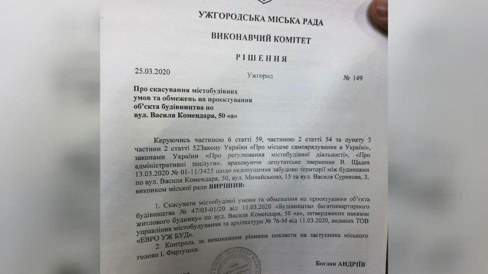 В Ужгороді мешканці ОСББ категорично проти забудови прибудинкової території