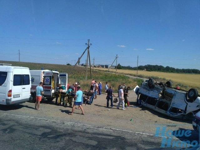 Жуткое ДТП с маршруткой в Запорожской области