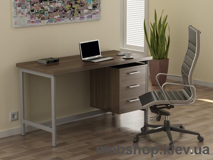 Где купить офисный стол на металлической опоре
