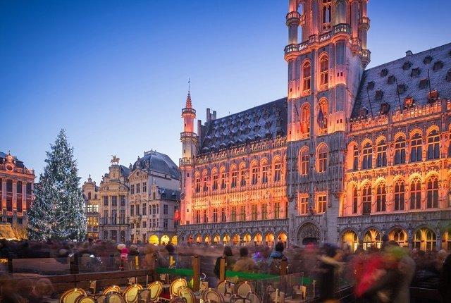 Рейтинг новогодних елок в главных европейских городах: 10. Брюссель-Бельгия