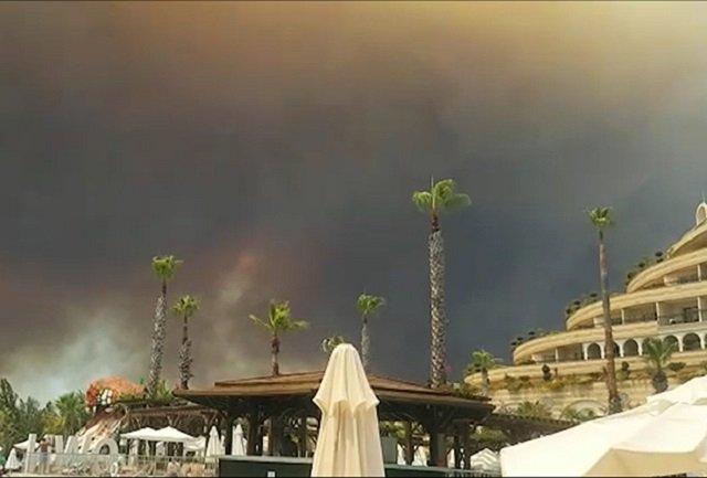 Пожары в районе Антальи