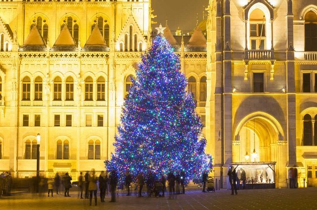 Рейтинг новогодних елок в главных европейских городах: 8. Будапешт-Венгрия