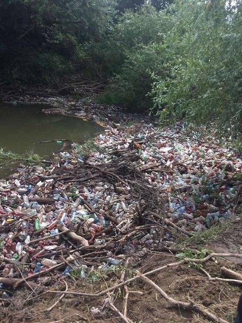 Реки Закарпатья тонут в мусоре!: Спасатели с водолазами расчищают мусорный затор
