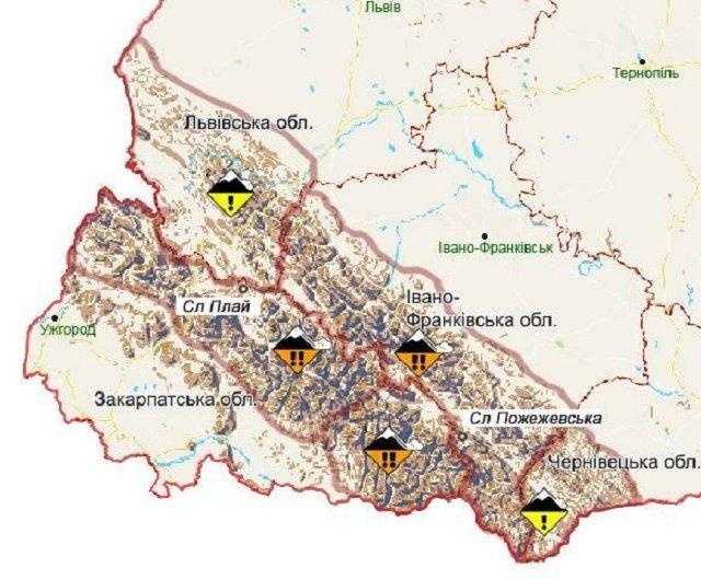 В Закарпатье туристов предупреждают о высокой опасности схождения лавин в Карпатах