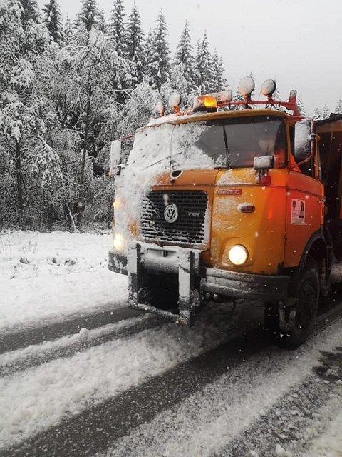 На севере Словакии выпал первый снег