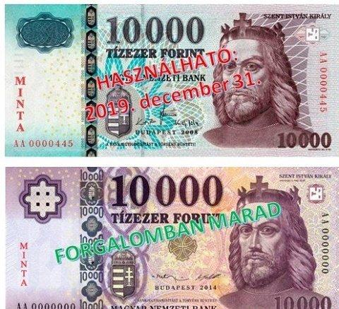 Вниманию жителей Закарпатья: Старые купюры в 10000 форинтов в ходу только до конца года