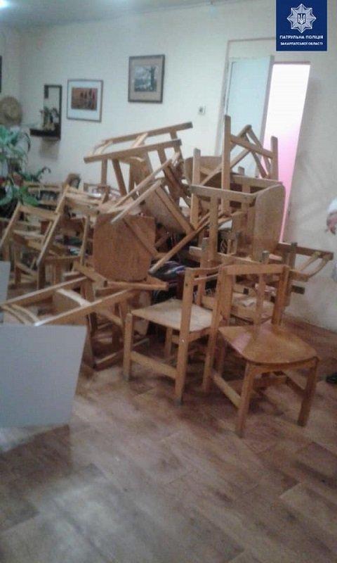 В Закарпатье подросток под наркотой разгромил учебный клас