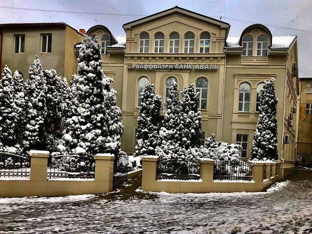 Снежная красота Ужгорода
