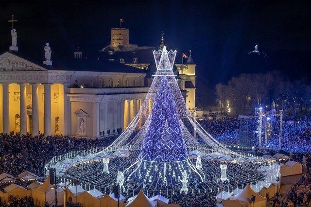 Рейтинг новогодних елок в главных европейских городах: 1. Вильнюс-Литва
