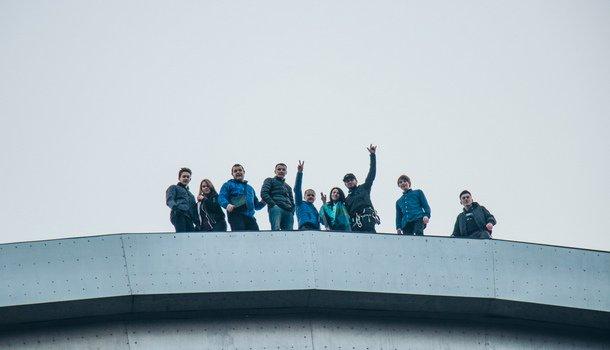 В Киеве руферы встретили рассвет на Арке Дружбы народов