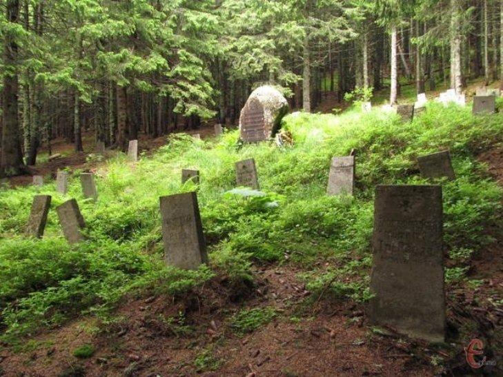 На кладовищі поховано десятки австрійських солдатів, які загинули в один день