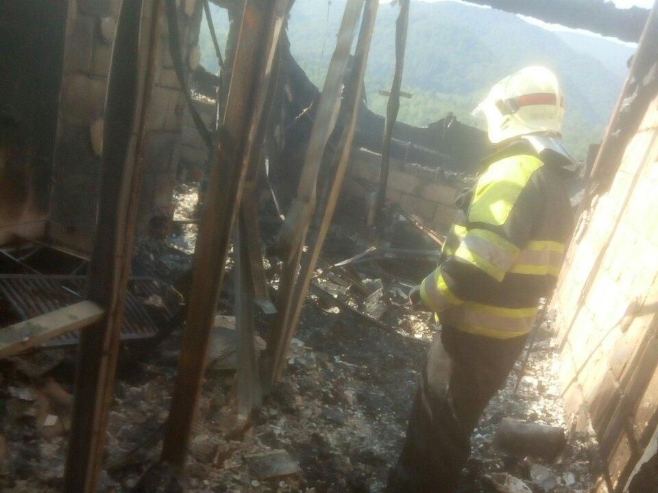 В Закарпатье бушующий огонь охватил гостинично-ресторанный комплекс