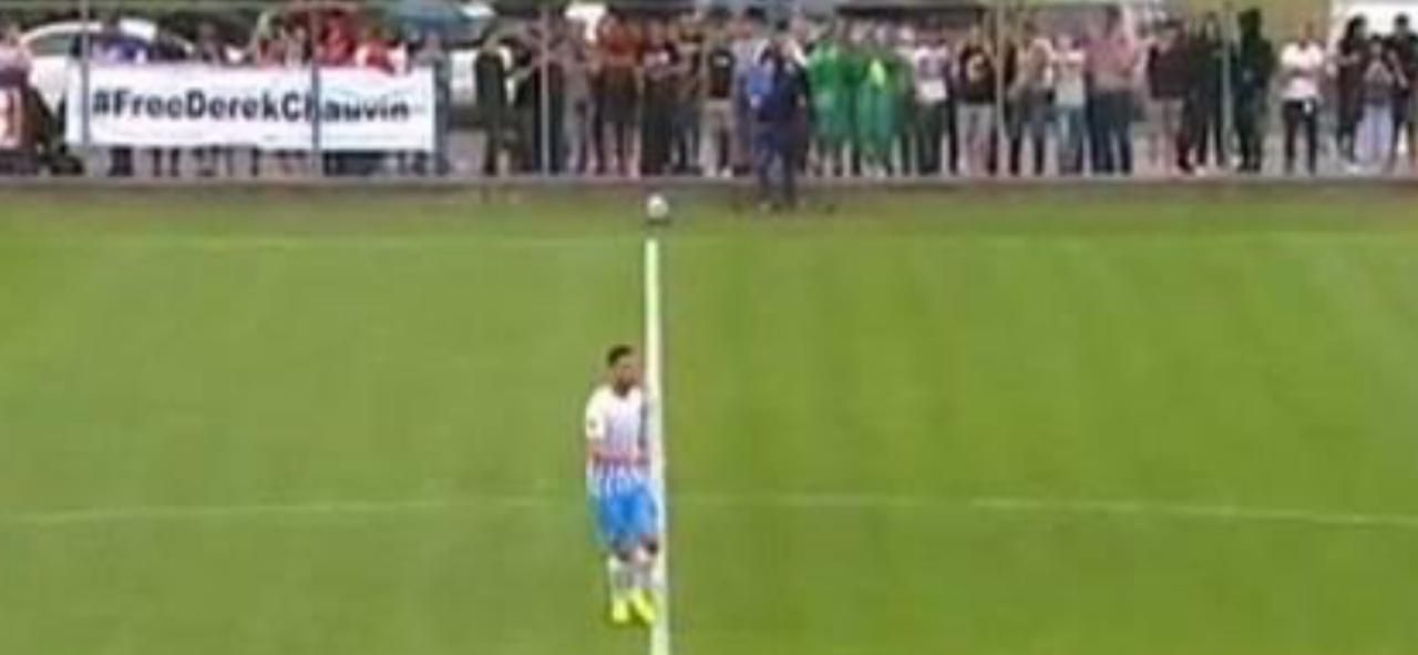 Освободите Дерека Шовина: В Закарпатье на футбольном мачте болельщики спровоцировали скандальную ситуацию