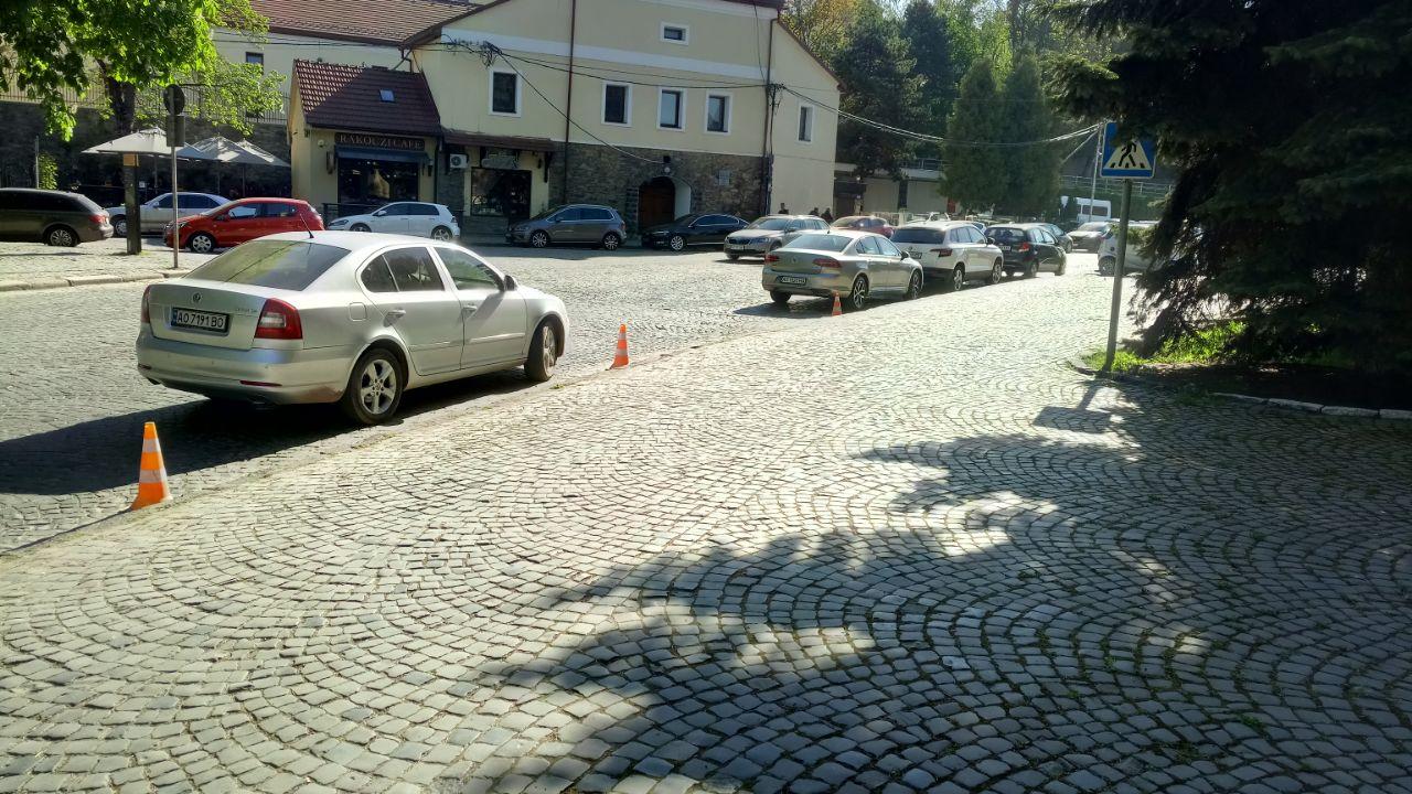 В Ужгороде с парковками оленей творится полный бардак