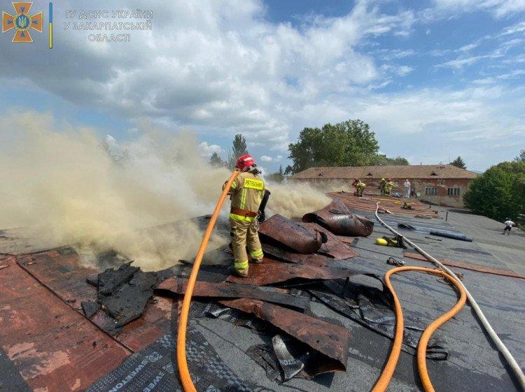 Пожар гигантских масштабов в Ужгороде не удается потушить третий час