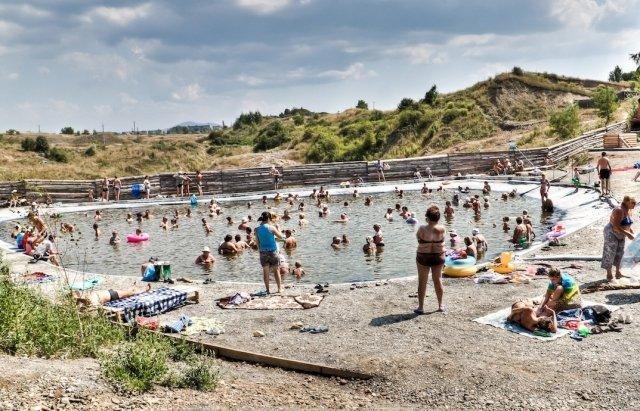 Озера в Солотвино недаром называют закарпатским морем