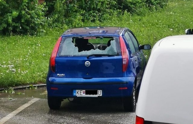 В соседней Словакии выпал разрушительный град