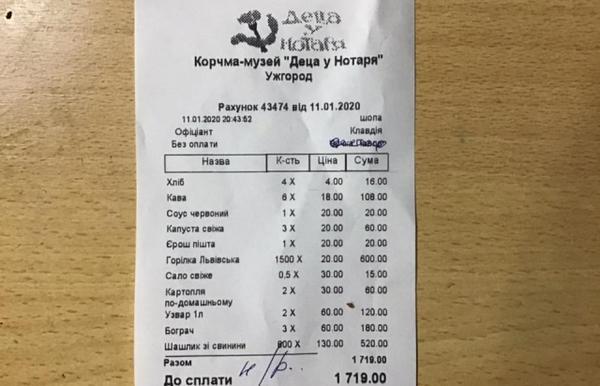 Губа не дура: В Ужгороде группа парней обобрала известный ресторан на большие деньги
