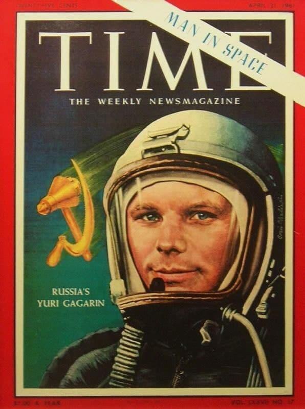 Даже обложка американского журнала Time с Юрием Гагариным – тоже запрещенная